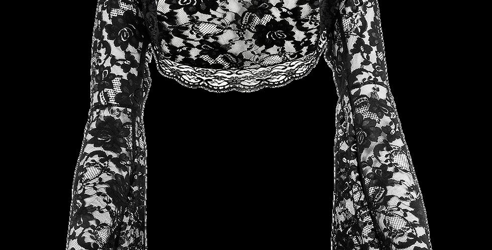 Black Lace Bolero - Bell Sleeve