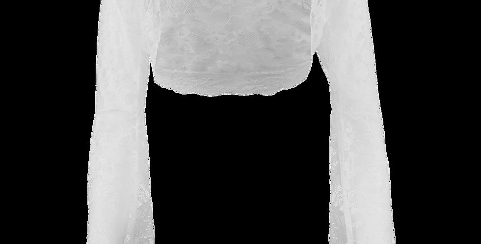 White Lace Bolero - Bell Sleeve
