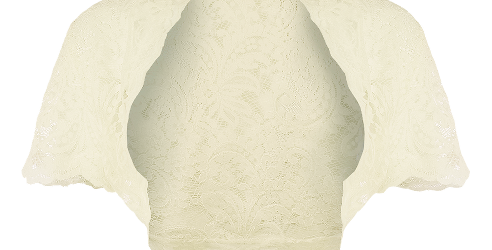 Ivory Windsor Lace Bolero - Short Sleeve