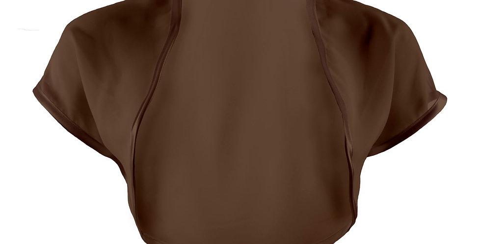 Brown Chiffon Bolero - Short Sleeve