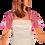 Thumbnail: Candy Pink Lace Bolero - Short Sleeve