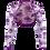 Thumbnail: Violet Lace Bolero -  Long Straight Sleeve