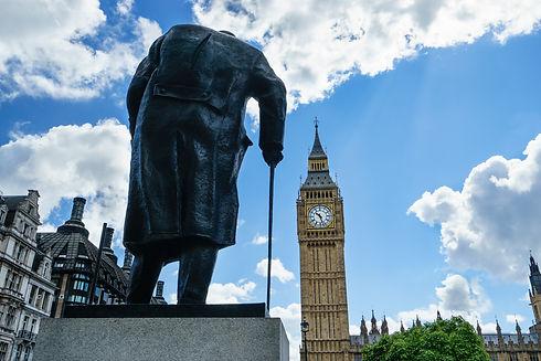 Big Ben and Winston Churchill's statue a