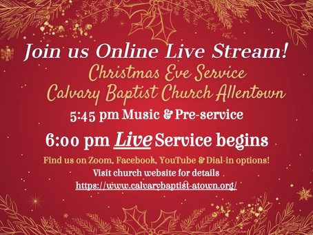 Christmas Eve Virtual Service