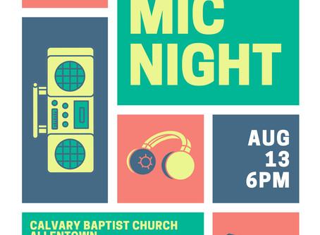 Open Mic Night - August 13, 2020