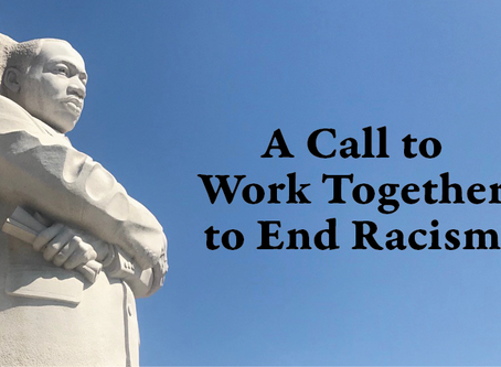 A Call to Work Together to End Racism
