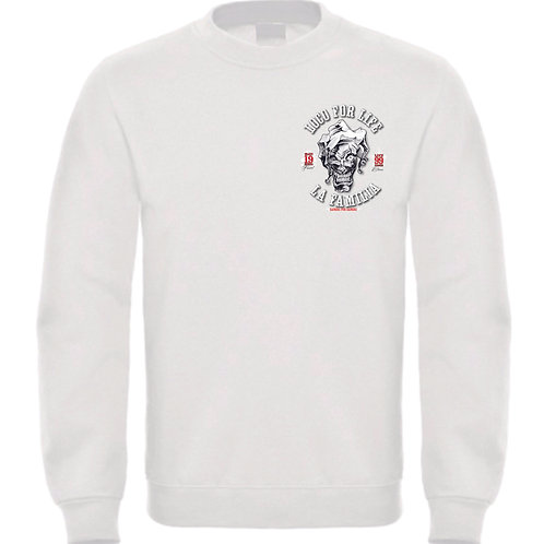 "La Familia Original ""Loco for Life"" Sweatshirt, schwarz, grau, weiß"