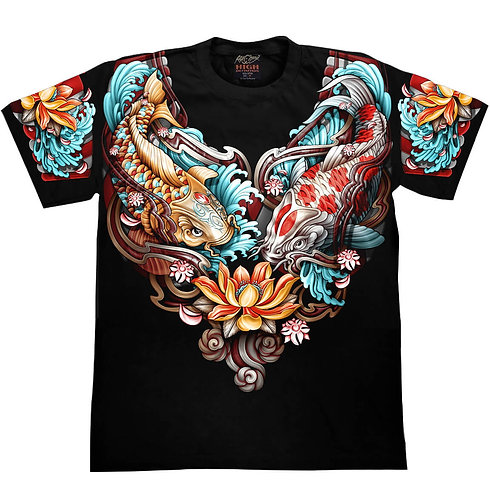 "Rock Chang  T-Shirt  ""YakuzaStyle"" Koi Print HD"