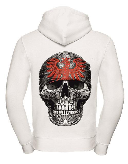 Mi Barrio Art Skull Hooded, schwarz oder weiß