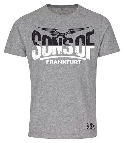 Sons of Frankfurt Black & White Herren T-Shirts in grau, weiß, schwarz oder rot