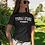 Thumbnail: Ladies Mi Barrio Frankfurt V-Neck T-Shirt in grau, schwarz, rot