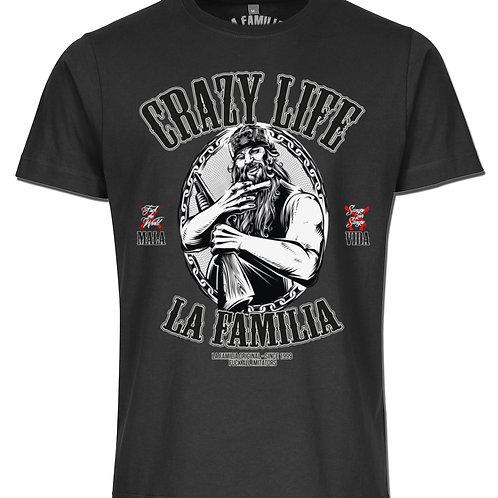 Herren, Jungs,T-Shirt,Schwarz , Crazy Life - Mala Vida, La Familia Original,La Familia , Vorderansicht
