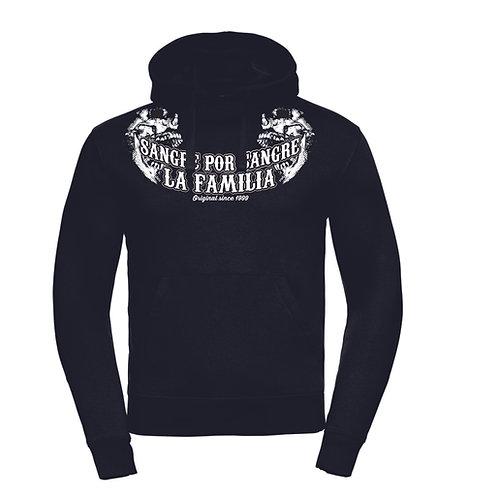 La Familia Original Double Hooded, Kapuzenpulli schwarz oder rot