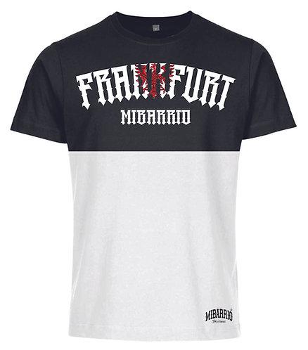 Mi Barrio Frankfurt Adler 1 Herren T-Shirt, limited Edition Schwarz/WEISS