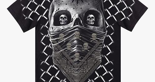 Rock Eagel Herren T-Shirt Skull Bandanna Totenkopf Style