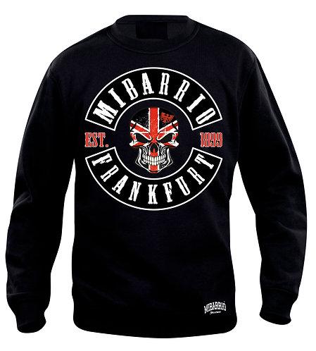 MIi Barrio Patch Frankfurt Herren Sweatshirt, Pulli schwarz, grau und weiß
