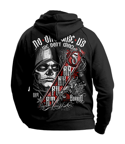 "Mi Barrio Herren Hooded Schwarz ""Never Surender"""