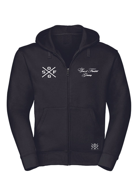 Sons of Frankfurt Zipper Hooded, Kapuzenjacke, schwarz