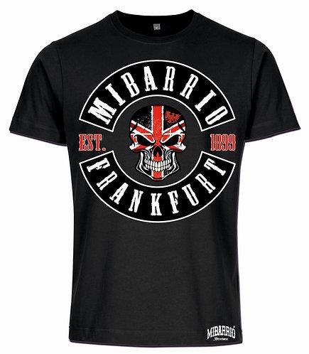 Mi Barrio 1899 herren T-Shirt Patch, schwarz, weiß und grau