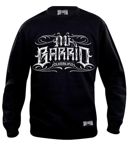 Mi Barrio Duisburg Ornamente Sweatshirt, schwarz