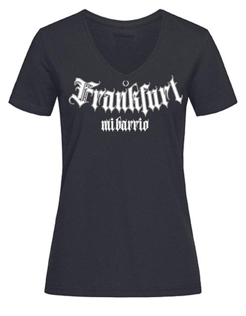 Mi Barrio La Familia Frankfurt Frauen V-Neck T-Shirt