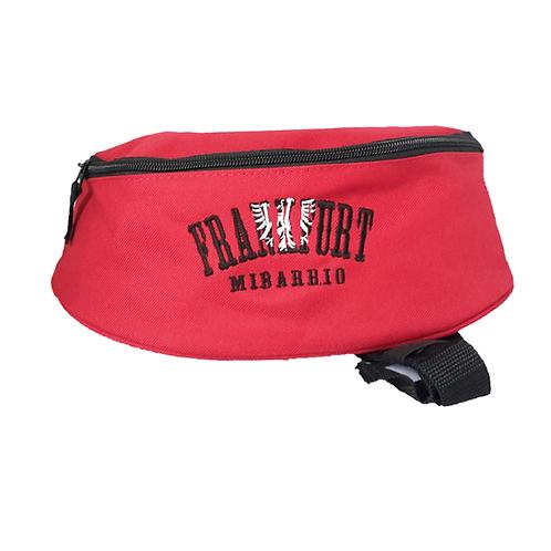 Hib Bag (Gürteltasche) rot mit aufwendigem Black & with Stick