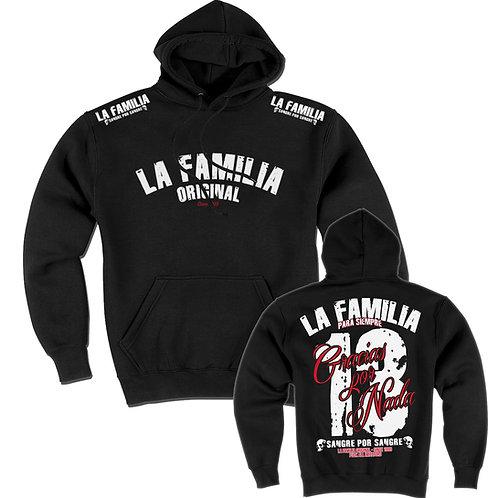 Herren, Jungs, Hooded, Schwarz, La Familia Original, Blackline,La Familia