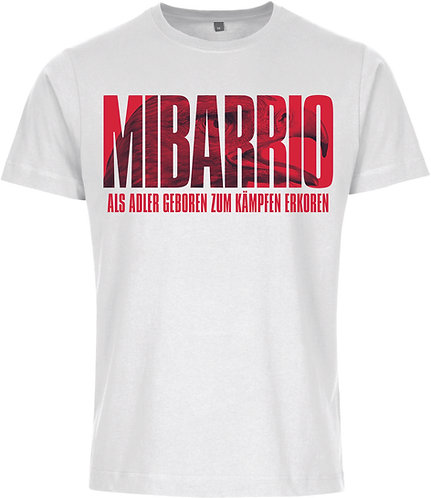 """Mi Barrio Herren T-Shirt,""""Als Adler geboren zum kämpfen erkoren"""", schwarz o weiß"""