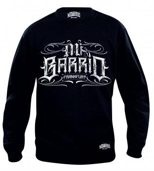 MI BARRIO FRANKFURT, Herren Sweatshirt ,SANGRE POR SANGRE, schwarz und rot