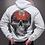 Thumbnail: Mi Barrio Art Skull Hooded, schwarz oder weiß