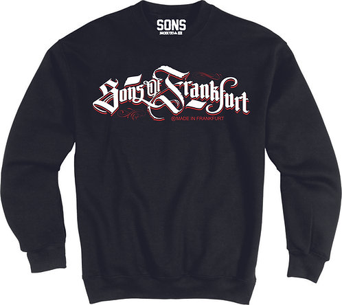 Sons of Frankfurt Herren Sweatshirt made in Germany, schwarz, weiß, grau