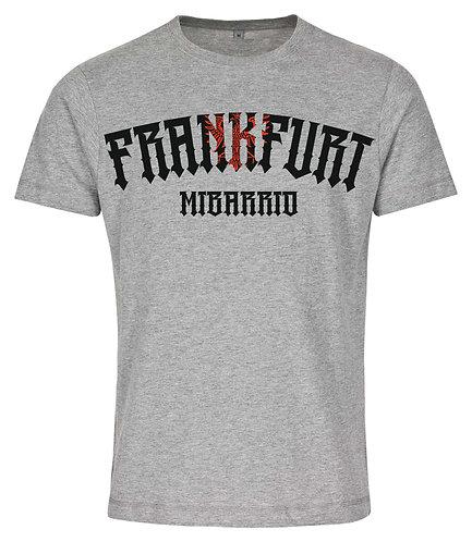 Mi Barrio Frankfurt Adler 1 Herren T-Shirt, rot, weiß,schwarz, rot