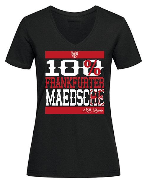 """Mi Barrio 100% Frankfurter Mädschen""""RUN"""" T-Shirt schwarzund grau"""