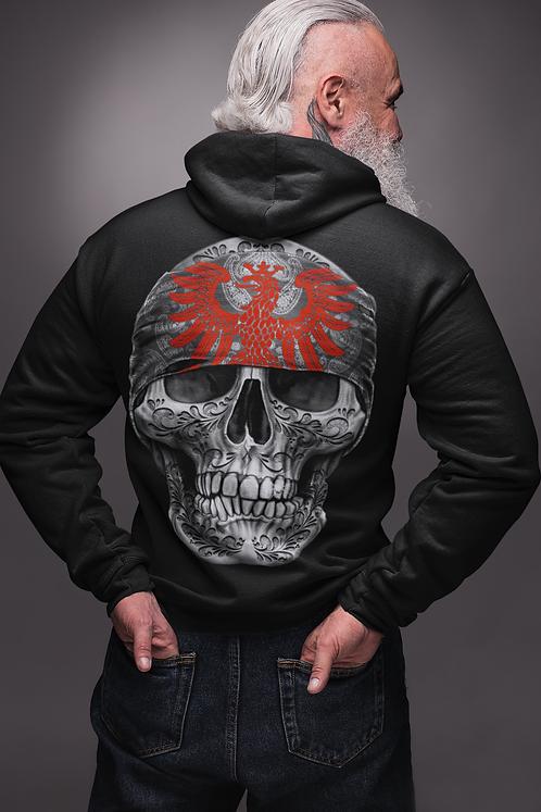 Mi Barrio Herren Zipper Hooded Art Skull Collection