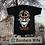 Thumbnail: Mi Barrio Bornheim Skull mit dem Bernemer Wappen, Herren T-Shirt schwarz