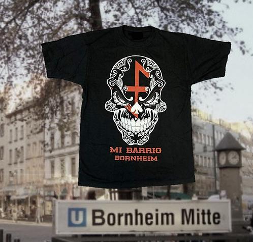 Mi Barrio Bornheim Skull mit dem Bernemer Wappen, Herren T-Shirt schwarz