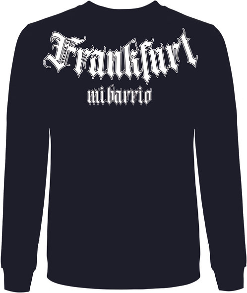 Mi Barrio La Familia, Frankfurt Sweatshirt grau,weiß, rot und schwarz