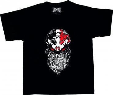 Cooles Mi Barrio Frankfurt Skull Bandanna Kids T-Shirt schwarz