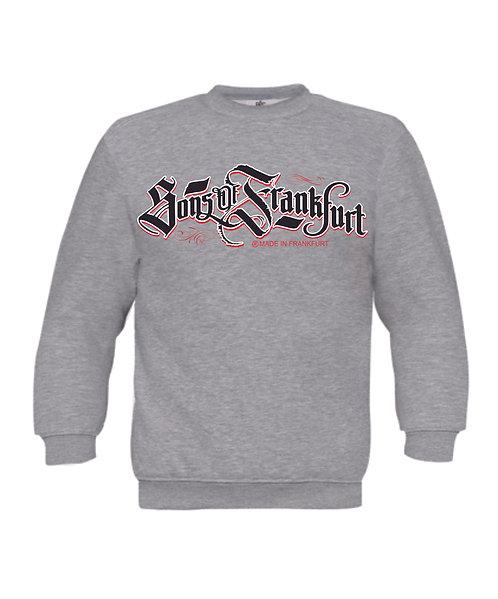 Sons of Frankfurt Herren Sweatshirt made in Germany, schwarz, weiß, grau