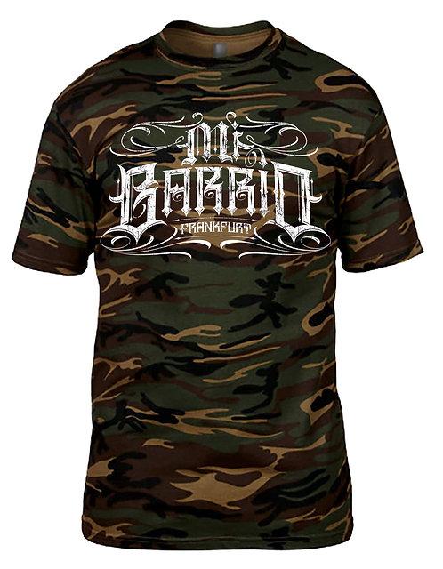 Mi Barrio Herren Fitted T-Shirt Sangre por Sangre Camouflage