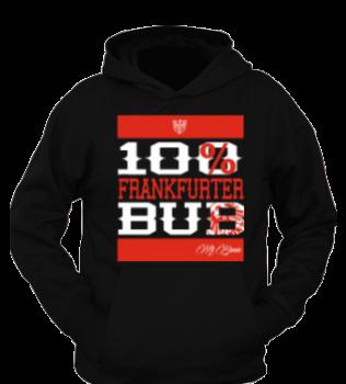 """Mi Barrio 100% Frankfurter Bub """"RUN"""", Herren Hooded schwarz"""