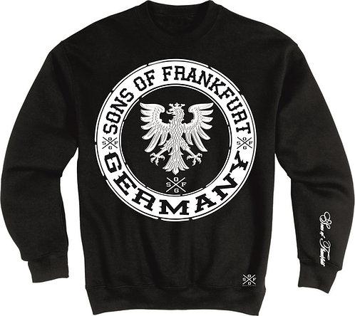 Sons of Frankfurt Adler Patch Sweatshirt Farbe schwarz