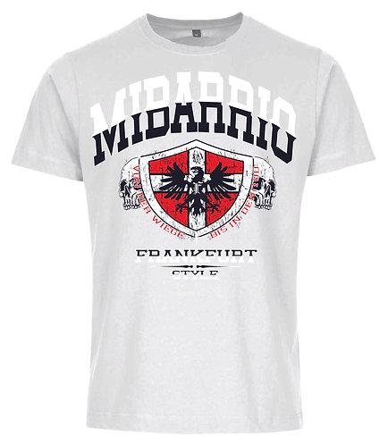 Mi Barrio Wappen Herren T-Shirt von der Wiege bis in den Tod grau,schwarz