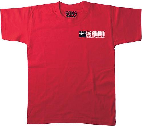 Sons of Frankfurt Fahne HerrenT-Shirt in der Modefarbe rot