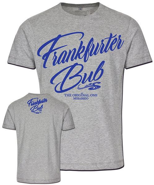 Mi Barrio Frankfurter Bub Herren T-Shirt in grau und schwarz