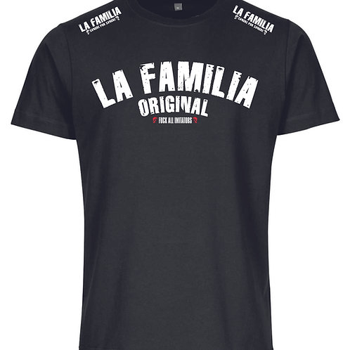 La Familia Original Fight for  Brotherhood T-Shirt , schwarz