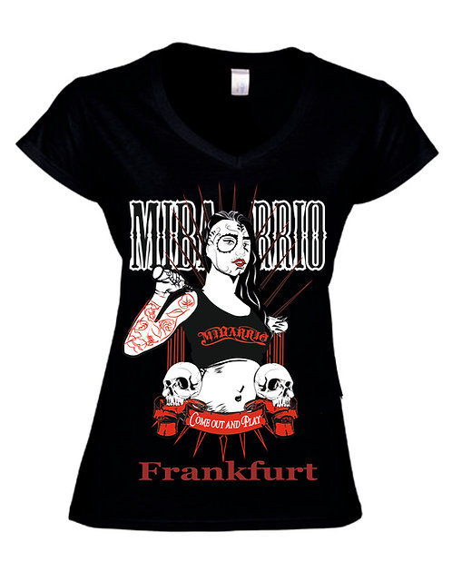 Mi Barrio Mi Barrio Come out and Play Ladies T-Shirt in schwarz