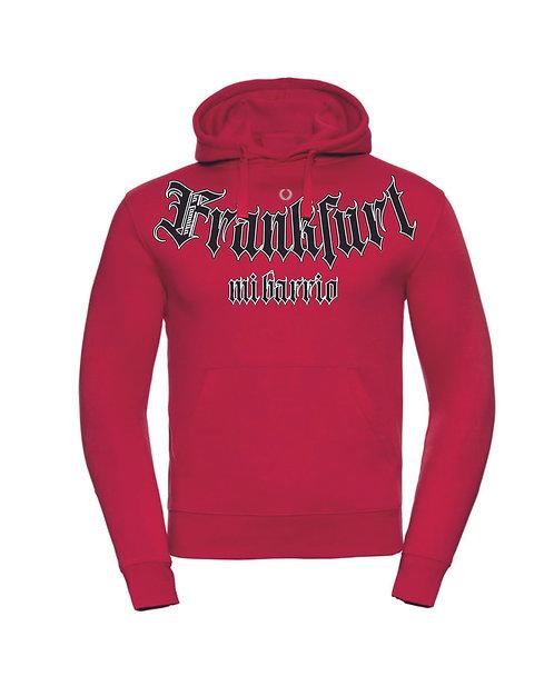 Mi Barrio La Familia, Frankfurt Hooded grau, rot und schwarz