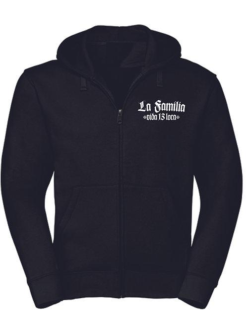 La Familia Vida Loca 13, Zipper Hooded in schwarz