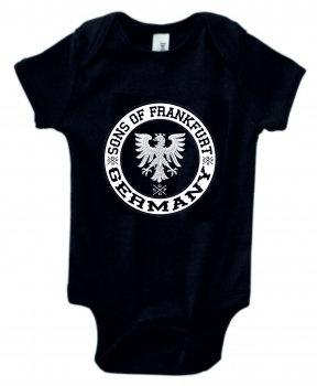 Sons of Frankfurt Baby Strampler Adler Patch, 100% Bio Baumwolle